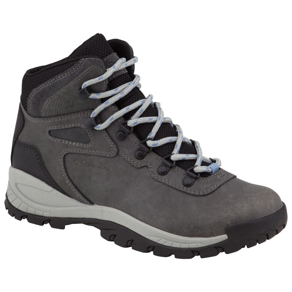 COLUMBIA Women's Newton Ridge Plus Hiking Boots, Quarry/Cool Wave - COOL WAVE