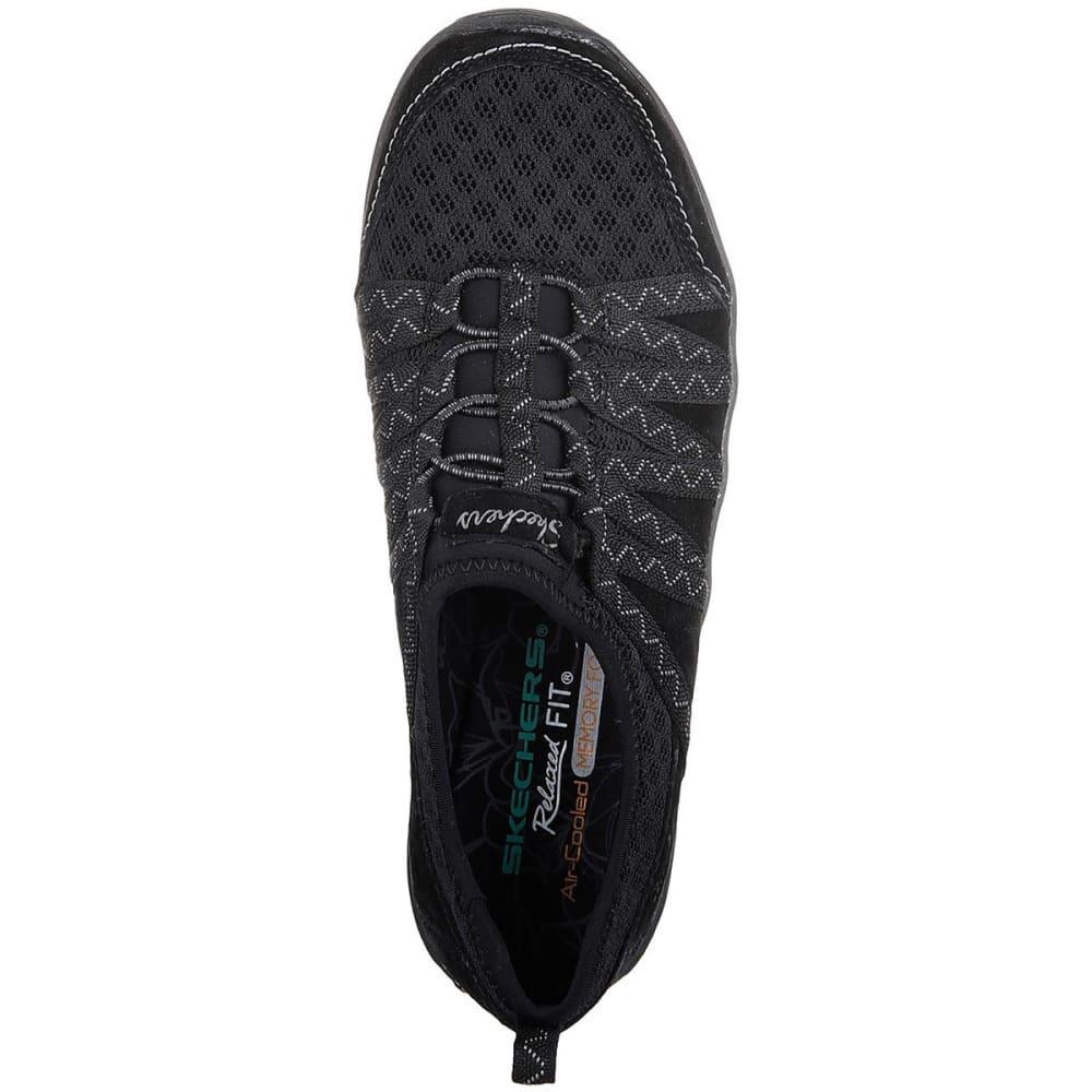 SKECHERS Women's Relaxed Fit: Reggae Fest - Big Adventure Casual Shoes, Black - BLACK