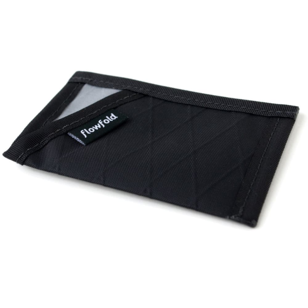 FLOWFOLD Minimalist Limited Card Holder Wallet - JET BLACK