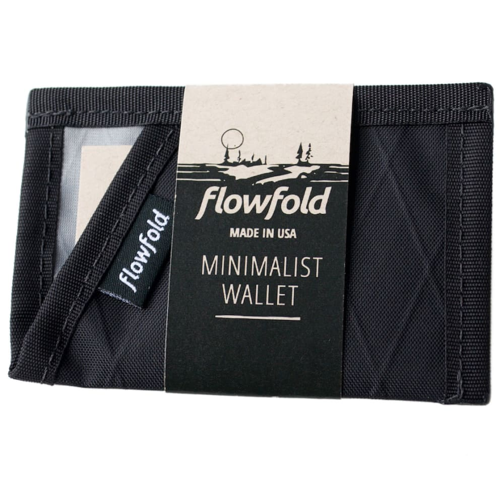 FLOWFOLD Minimalist Limited Card Holder Wallet - JET BLACK