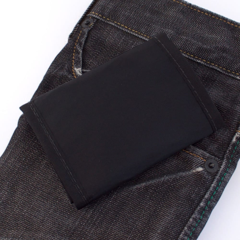 FLOWFOLD Traveler Limited Trifold Wallet - JET BLACK
