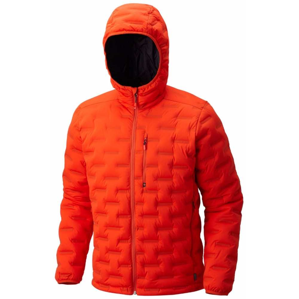 MOUNTAIN HARDWEAR Men's StretchDown DS Hooded Jacket - 842-SLATE ORANGE