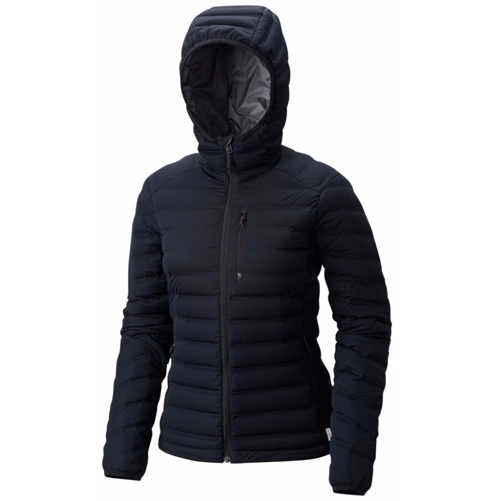 MOUNTAIN HARDWEAR Women's StretchDown Hooded Jacket - 010-BLACK