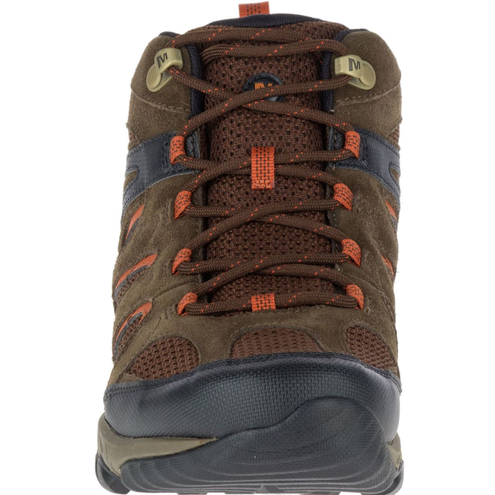 MERRELL Men's Outmost Mid Ventilator Waterproof Hiking Boots, Slate Black - BLACK