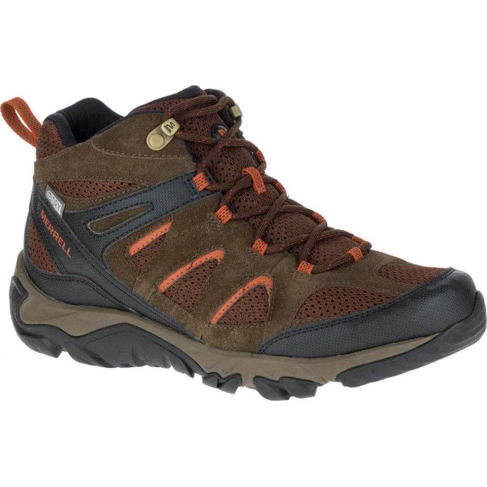 Merrell Mens Outmost Mid GTX Goretex Waterproof Walking Boot Black BNIB
