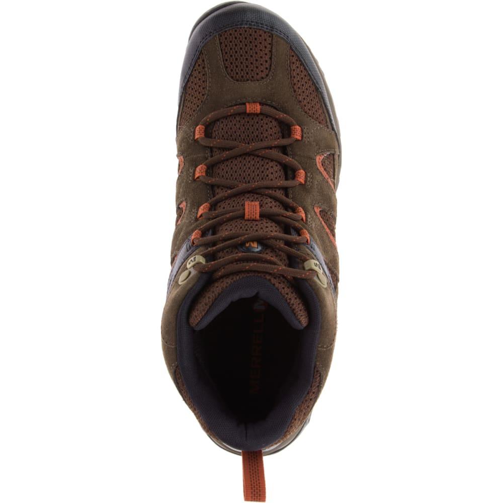 MERRELL Men's Outmost Mid Ventilator Waterproof Hiking Boots - SLATE BLACK