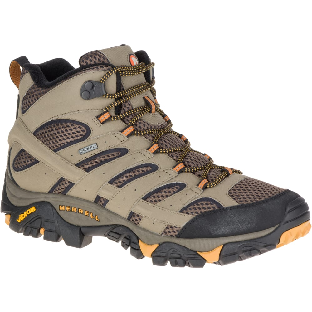 MERRELL Men's Moab 2 Mid Gore-Tex Hiking Boots, Walnut 10