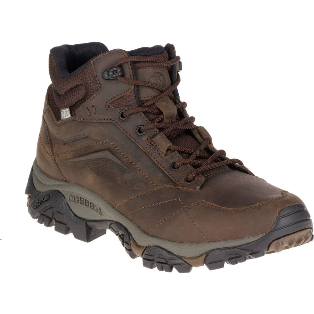 MERRELL Men's Moab Adventure Mid Waterproof Hiking Boots, Dark Earth 8