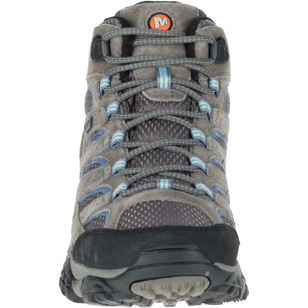 MERRELL Women's Moab 2 Mid Waterproof Hiking Boots, Granite , Wide - GRANITE