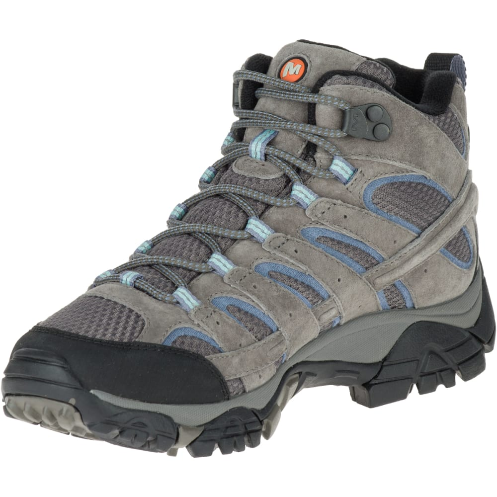 c715bd8cac MERRELL Women's Moab 2 Mid Waterproof Hiking Boots, Granite , Wide