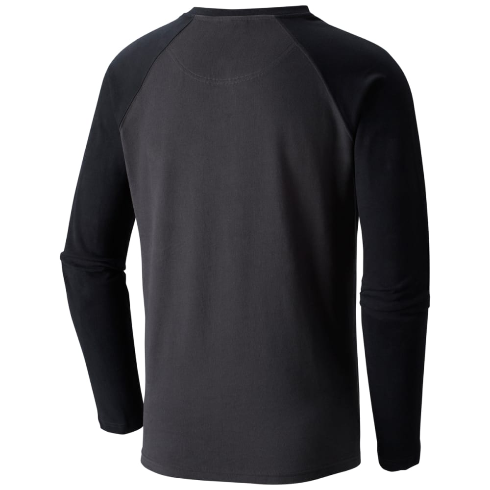 ef5fcfe1692 COLUMBIA Men's Ward River Long Sleeve Henley Shirt - SHARK/BLK