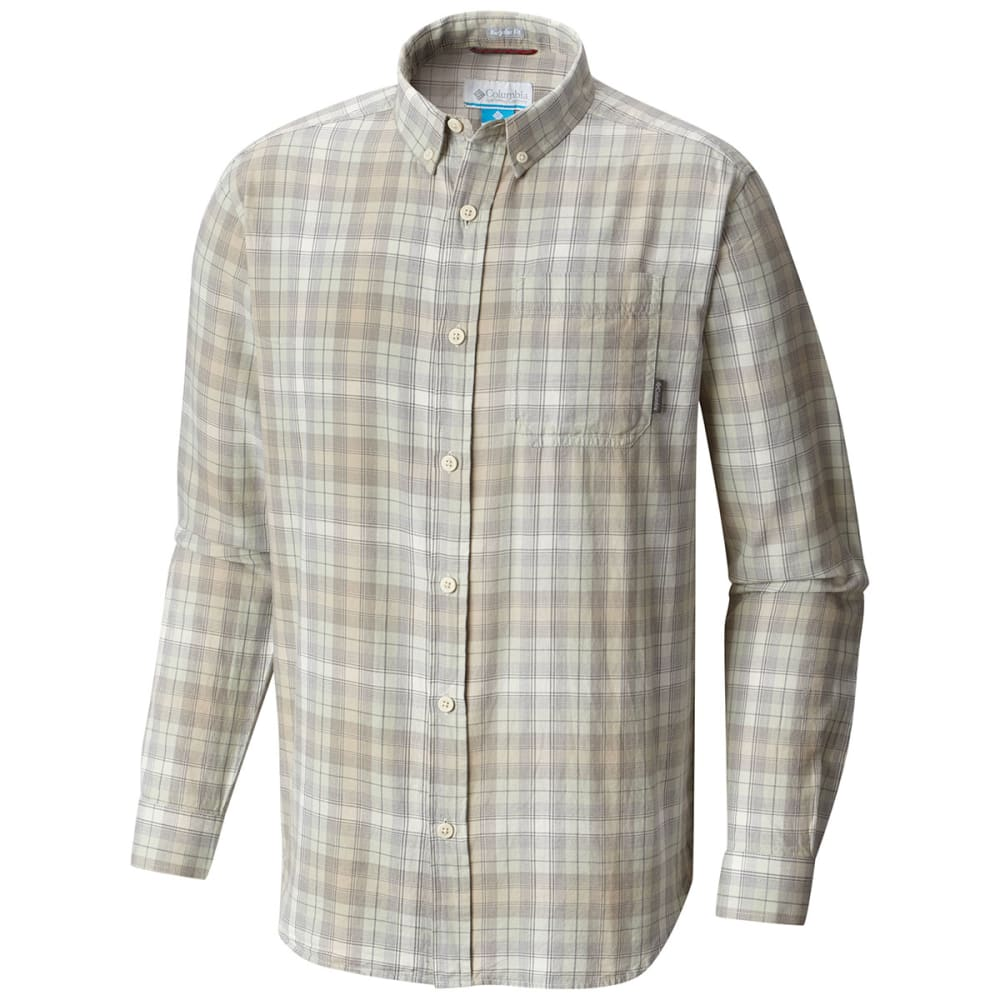 COLUMBIA Men's Cooper Lake Plaid Long-Sleeve Shirt - PIXEL OMBRE