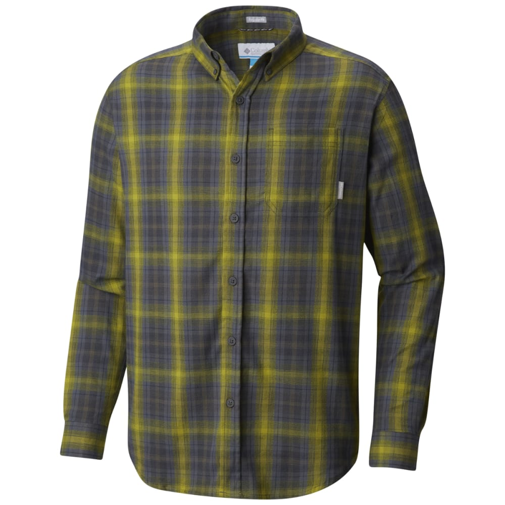 COLUMBIA Men's Cooper Lake Plaid Long-Sleeve Shirt - ALPINE TUNDRA -326
