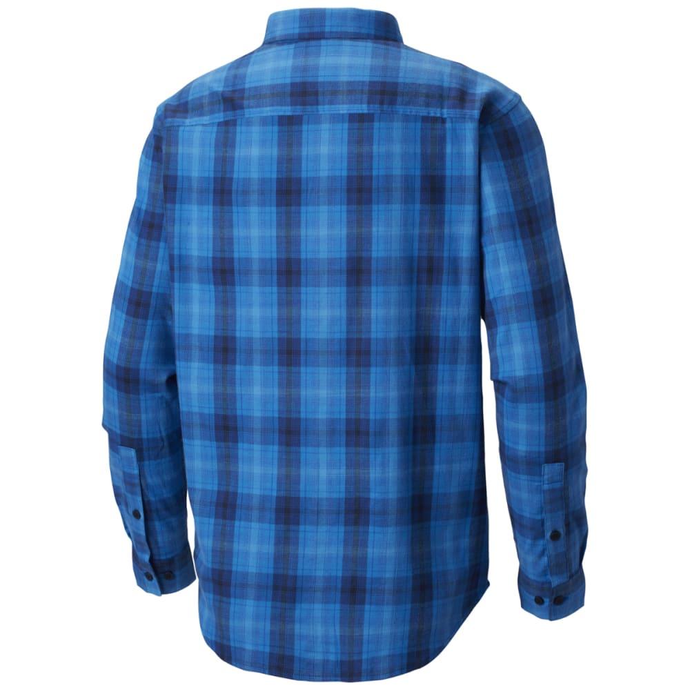 COLUMBIA Men's Cooper Lake Plaid Long-Sleeve Shirt - AZUL -437