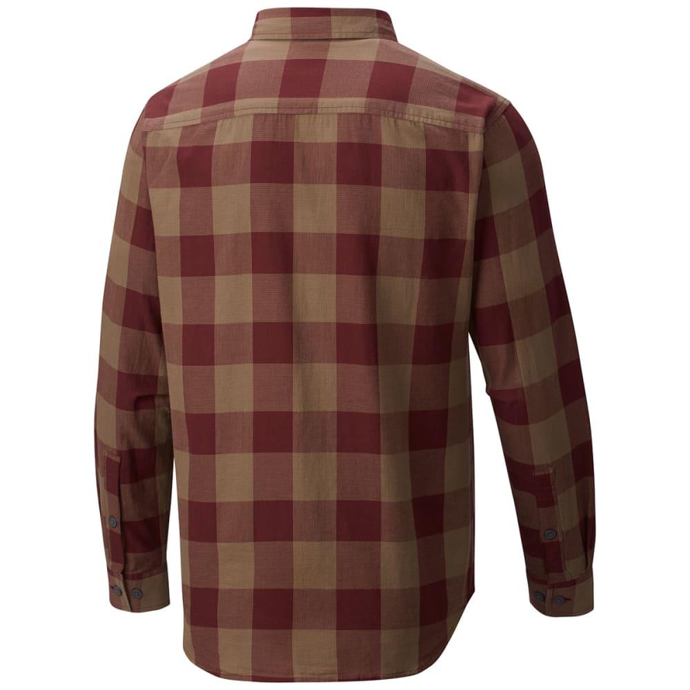 COLUMBIA Men's Cooper Lake Plaid Long-Sleeve Shirt - ELDERBERRY CHK-521