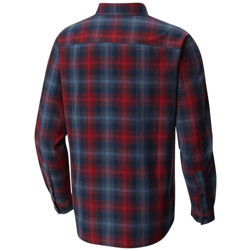 COLUMBIA Men's Cooper Lake Plaid Long-Sleeve Shirt - BEET OMBRE-607