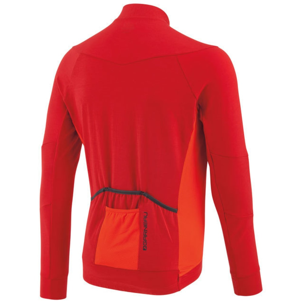LOUIS GARNEAU Men's Lemmon Long-Sleeve Cycling Jersey - BARBADOS CHERRY