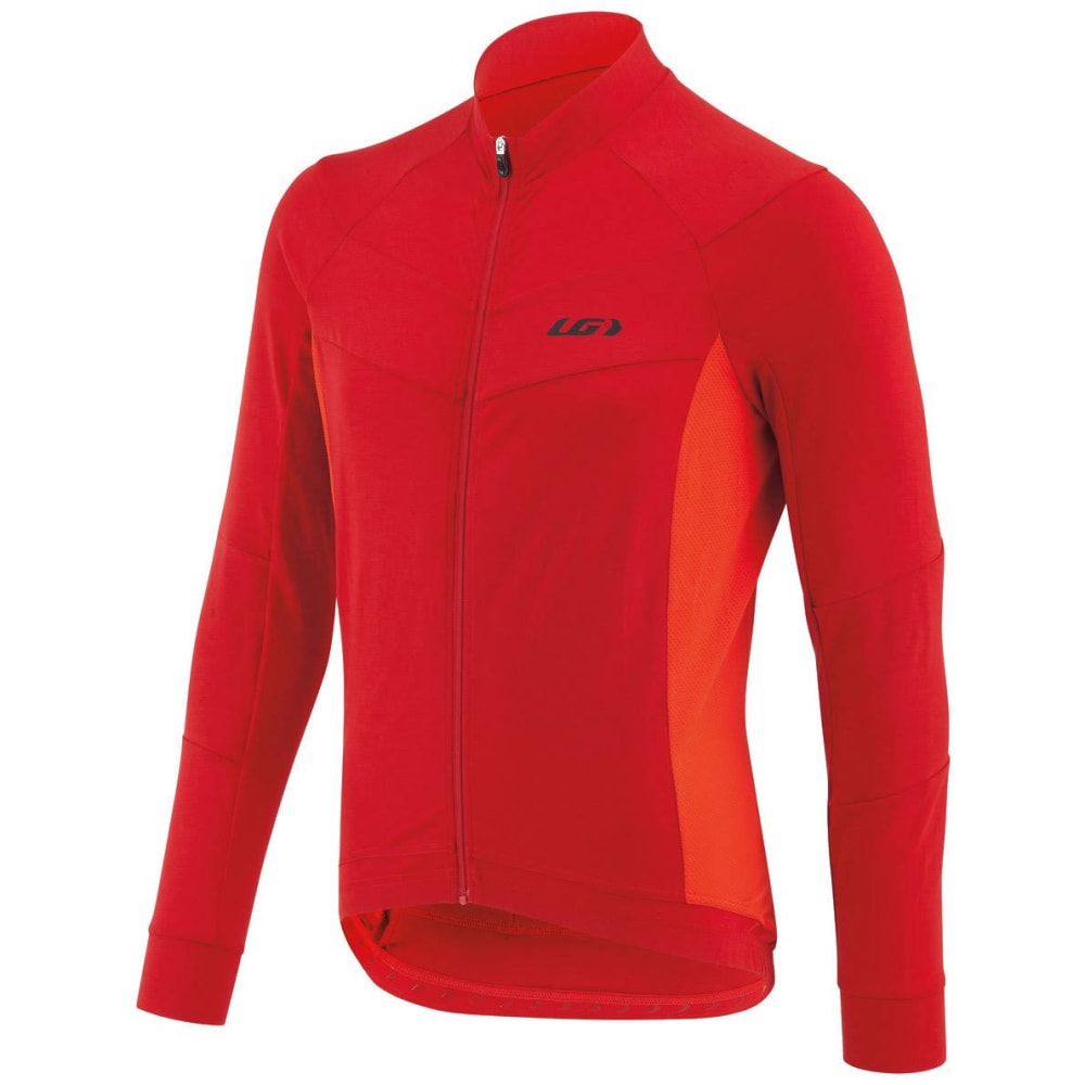 LOUIS GARNEAU Men's Lemmon Long-Sleeve Cycling Jersey - BARBADOS CHERRY