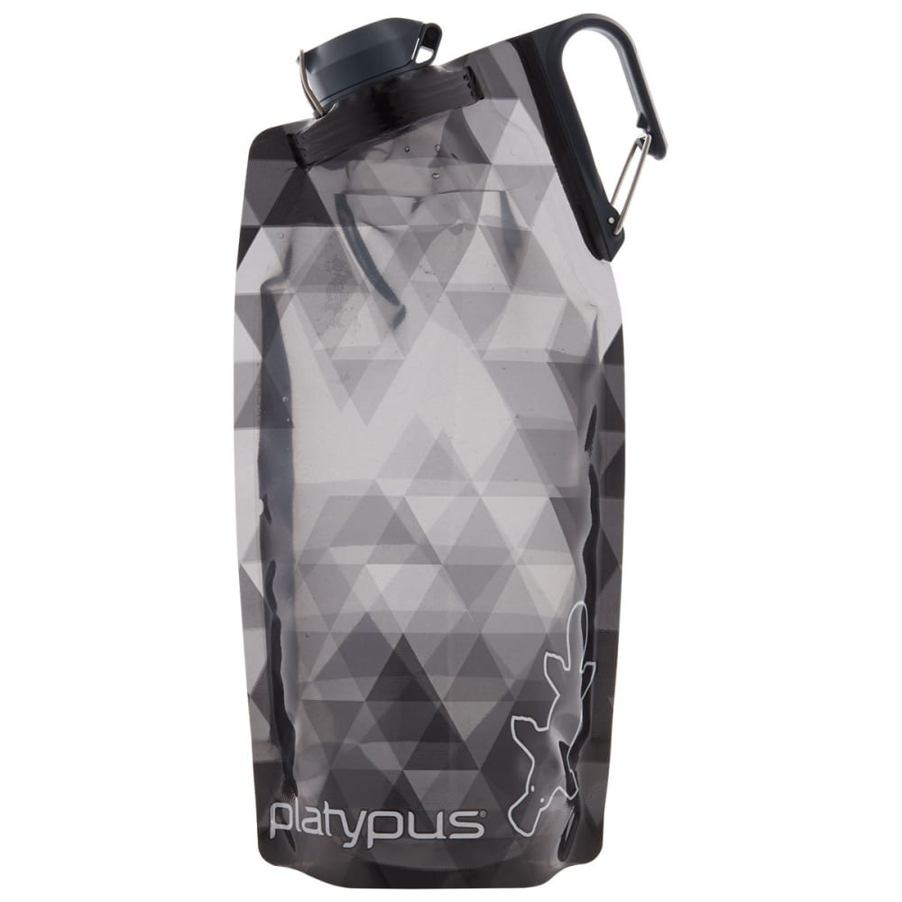 PLATYPUS 1L DuoLock SoftBottle Water Bottle - GREY PRISMS