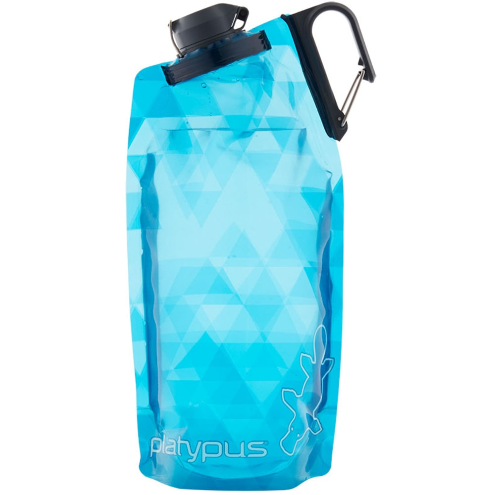PLATYPUS 1L DuoLock SoftBottle Water Bottle - BLUE PRISMS
