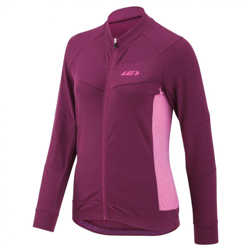 LOUIS GARNEAU Women's Beeze LS Cycling Jersey - MAGENTA/PUPLE
