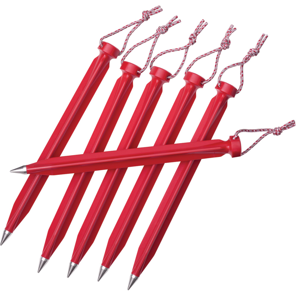 MSR 9 in. Dart Tent Stakes, Bulk - RED