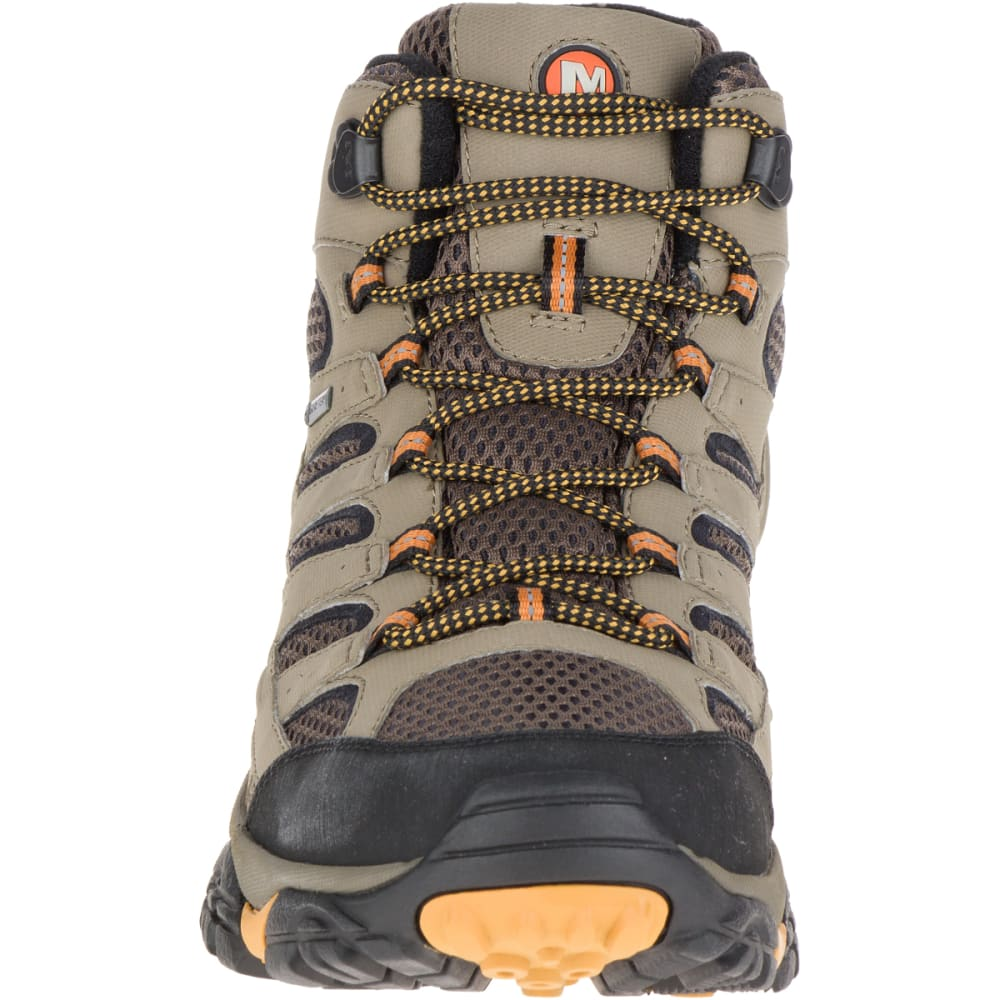MERRELL Men's Moab 2 Mid Gore-Tex Hiking Boots, Walnut, Wide - WALNUT