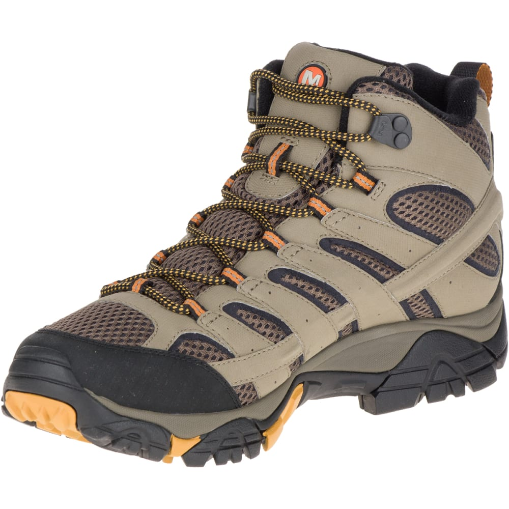 89b1c7006f8 MERRELL Men's Moab 2 Mid Gore-Tex Hiking Boots, Walnut, Wide