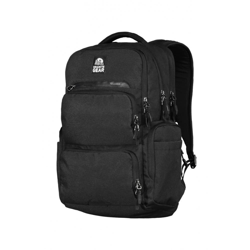 The key to a smooth commute lies within this backpack, a tough abrasion- and water-resistant design fully sealed against the elements. But, in getting from point A to point B, its compression-molded and ventilated ergonomic fit ensures you feel comfortable the whole way through, while various pockets and a laptop sleeve efficiently store and protect your most crucial supplies. Body is made out of polyester Repela-X fabric with a Taurpalite bottom for complete protection. Compression-molded back panel adds ventilation channels for more comfort. Load-absorbing shoulder straps use EVA for an extra-comfortable feel. Sternum straps assist with stabilizing your load. MaxLoad multi-compartment design provides both an ergonomic fit and convenience. Gear-Tec Tricot-Lined Padded Computer Compartment fits most 17 Laptops. Barrier zipper tricot-lined pocket helps hold onto your valuables. Interior-lined tablet sleeve protects your tablet in transport. Multi-pocket, tricot-lined organization pocke