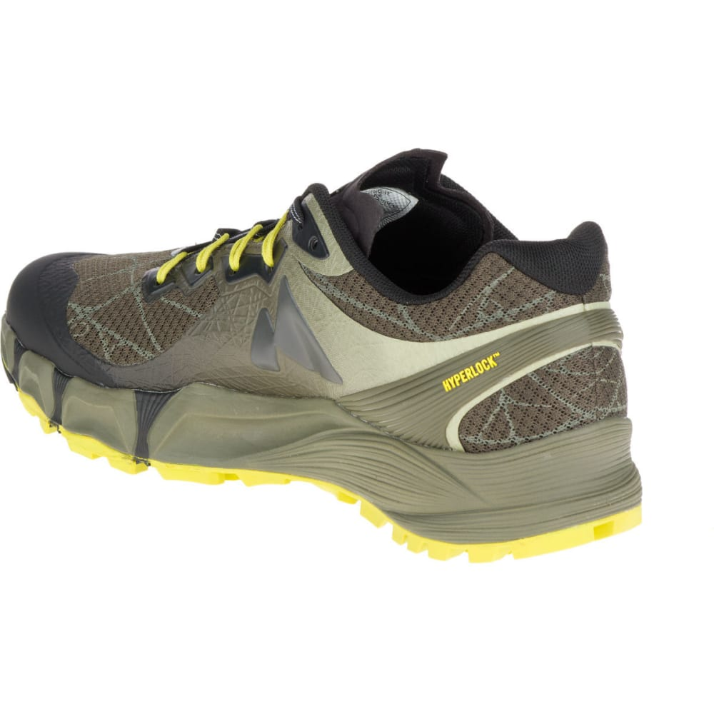 MERRELL Men's Agility Peak Flex Trail Running Shoes, Beluga/Olive - BELUGA/OLIVE
