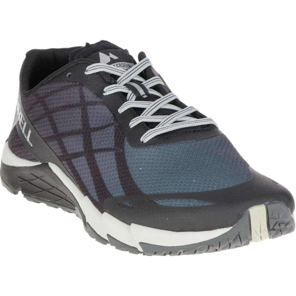 MERRELL Men's Bare Access Flex Running Shoes - BLACK/SILVER