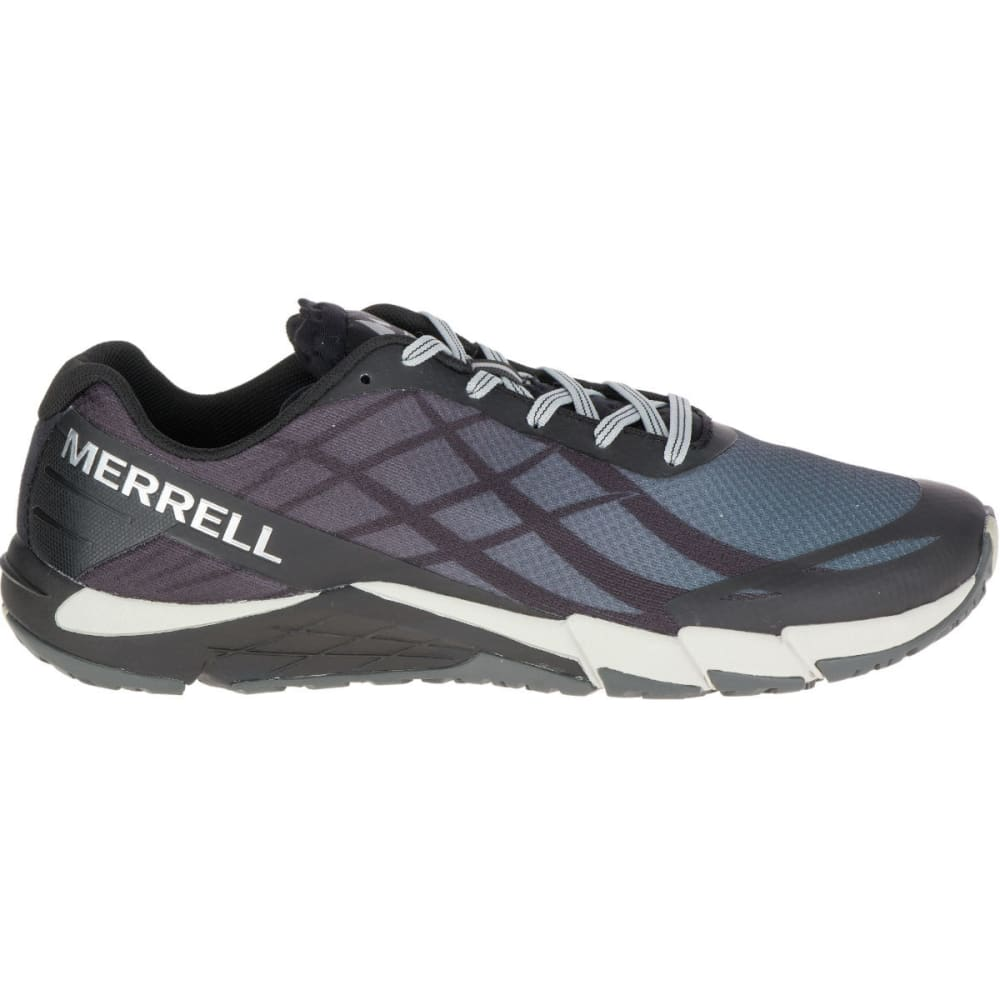 MERRELL Men's Bare Access Flex Trail Running Shoes, Black/Silver - BLACK/SILVER
