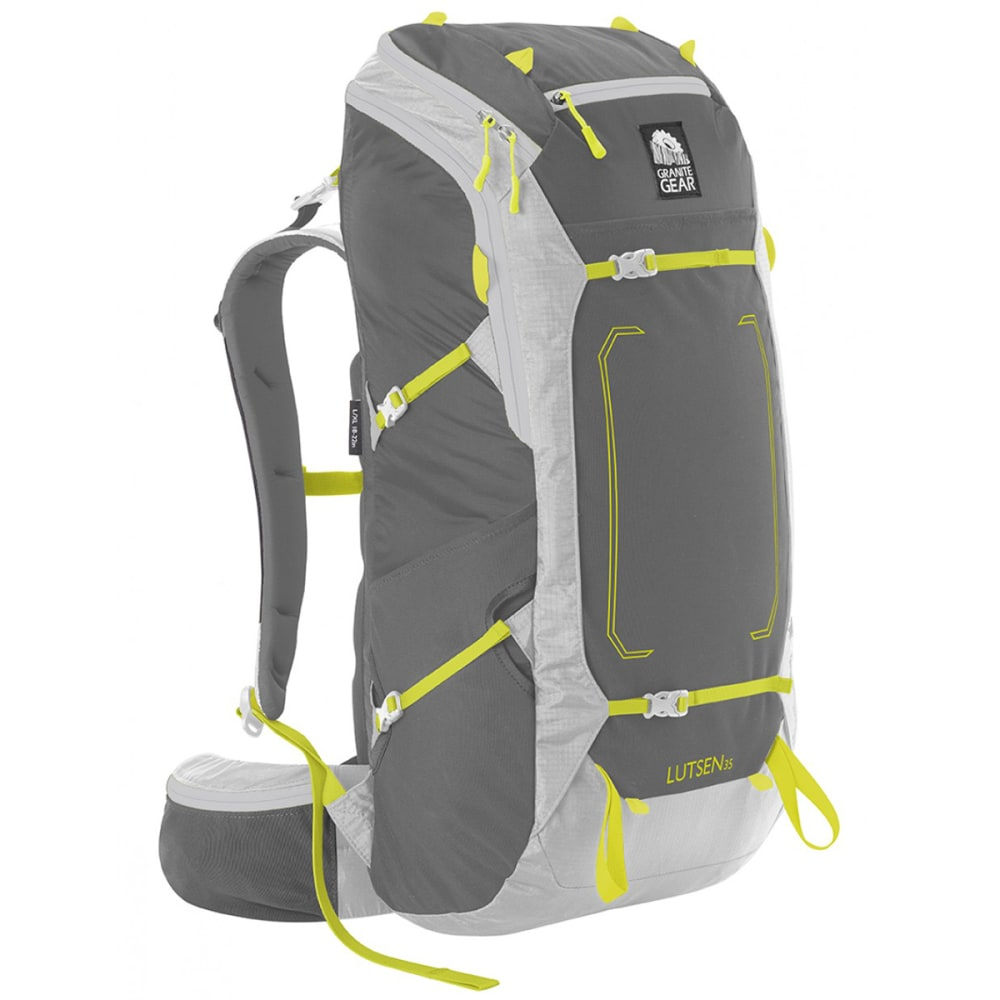 GRANITE GEAR Lutsen 35 Pack  - FLINT/CHRM/NEOLIME