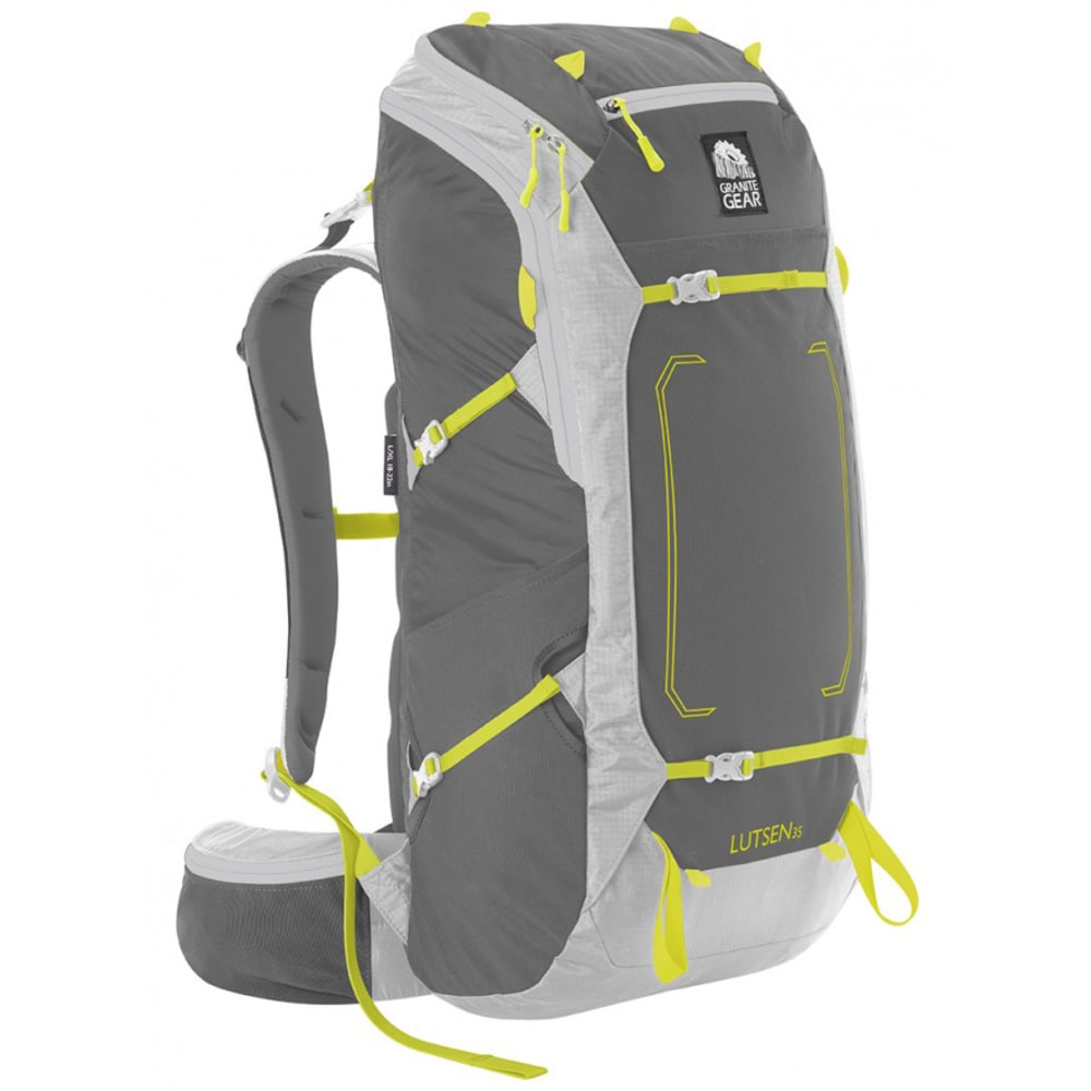 GRANITE GEAR Lutsen 35 Pack, LG/XL  - FLINT/CHRM/NEOLIME