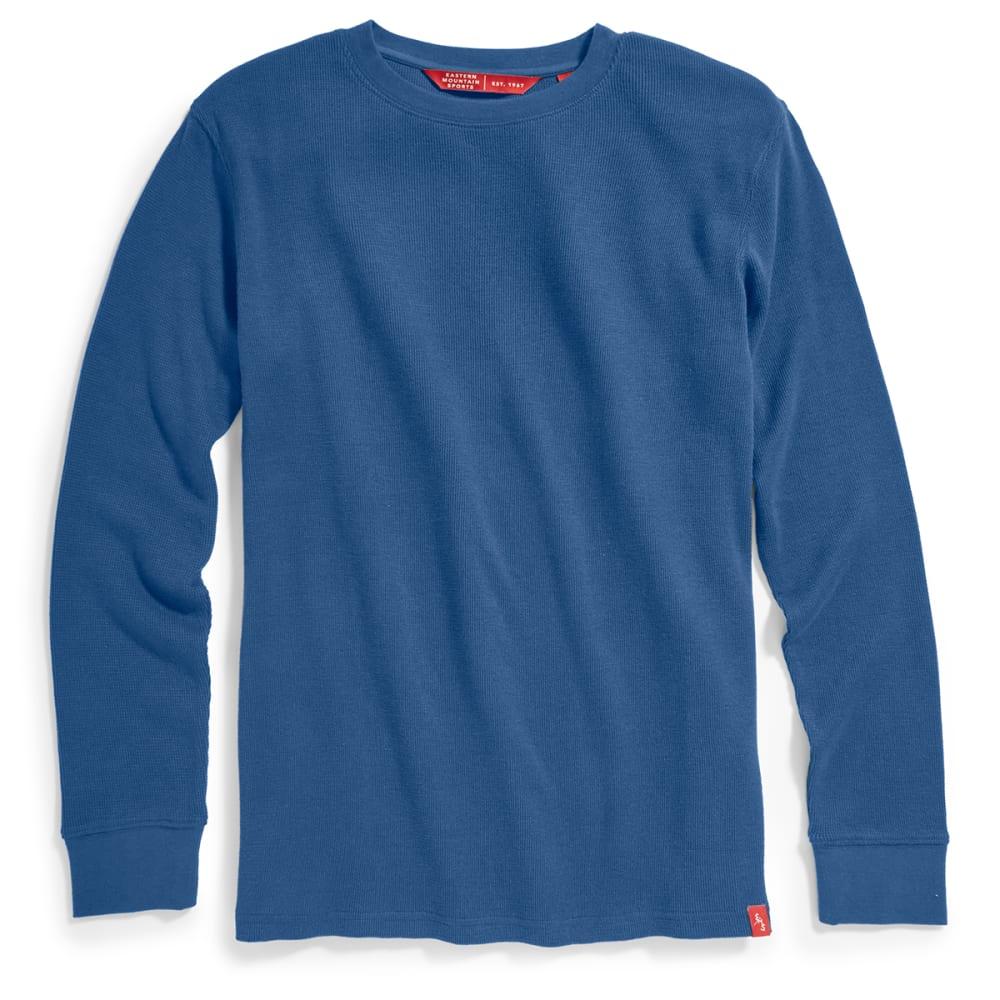 EMS Men's Rowan Waffle Crew Long-Sleeve Shirt - ENSIGN BLUE