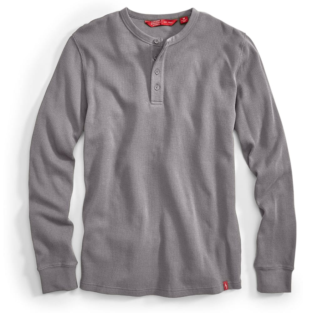 EMS® Men's Rowan Waffle Henley Long-Sleeve Shirt - PEWTER