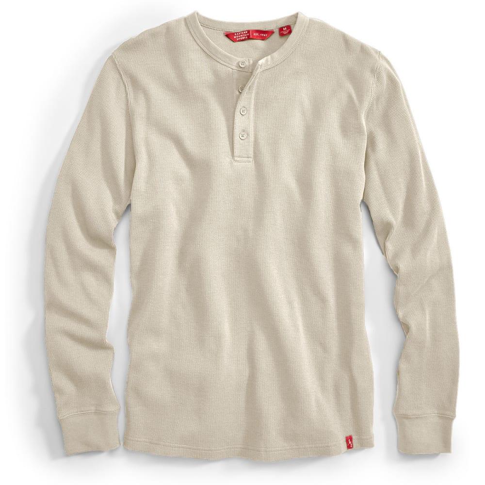 EMS® Men's Rowan Waffle Henley Long-Sleeve Shirt - HEATHER OATMEAL
