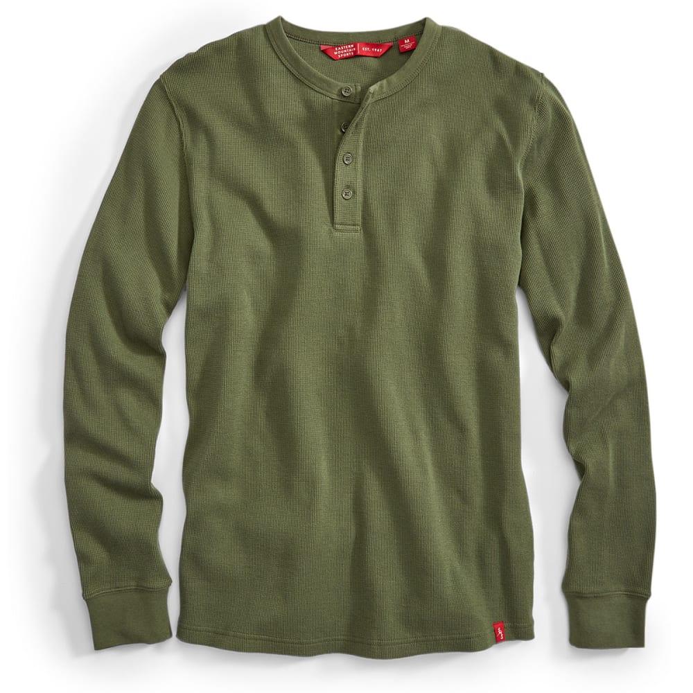 EMS Men's Rowan Waffle Henley Long-Sleeve Shirt - FOUR LEAF CLOVER
