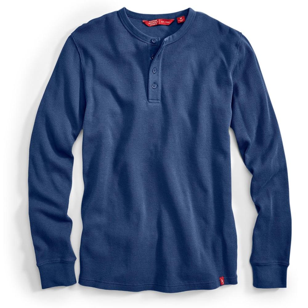 EMS® Men's Rowan Waffle Henley Long-Sleeve Shirt - ENSIGN BLUE