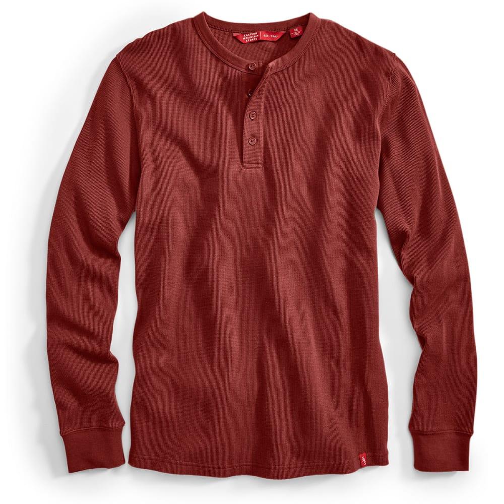 EMS® Men's Rowan Waffle Henley Long-Sleeve Shirt - FIRED BRICK