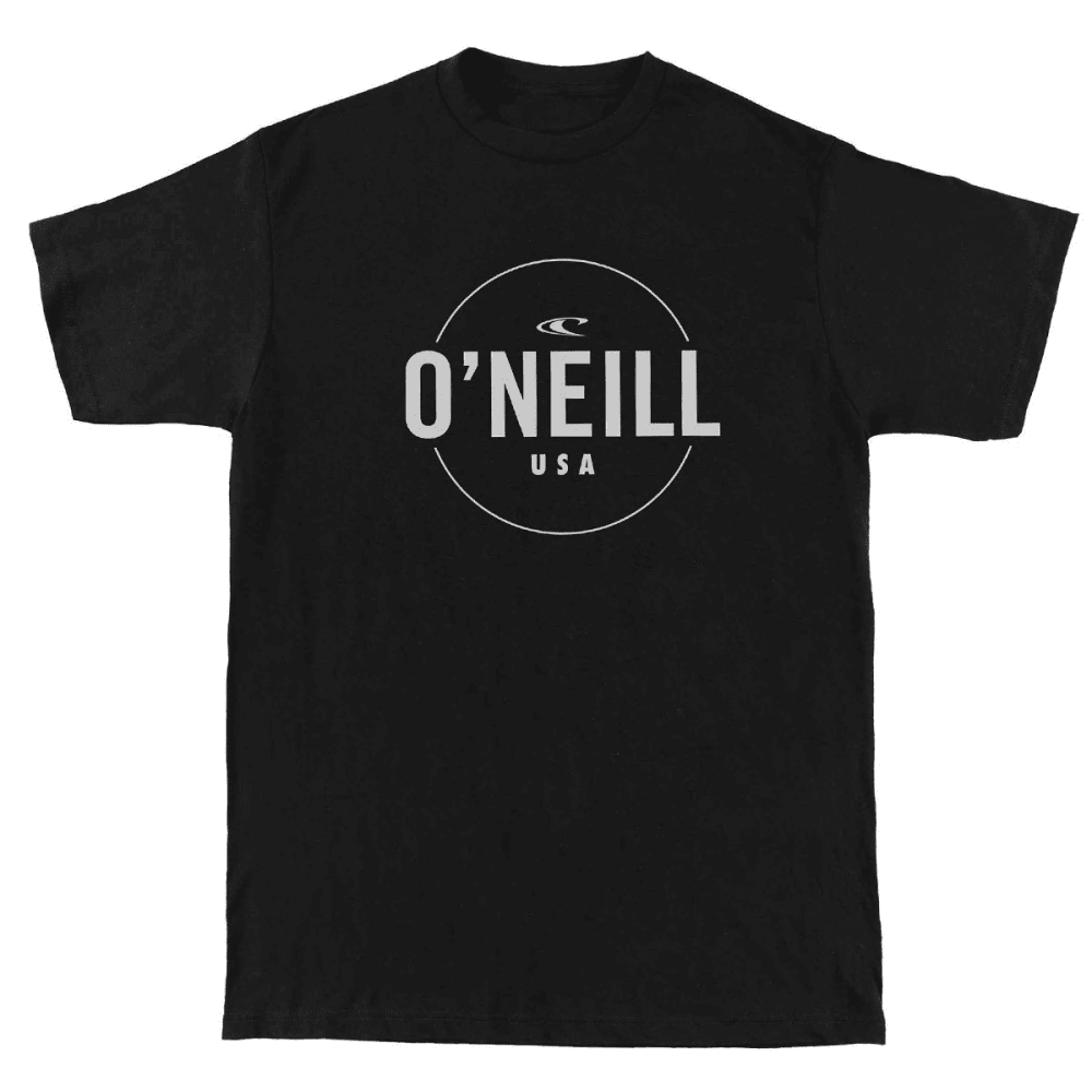 O'NEILL Men's Agent Tee - HBK- HEATHER BLACK