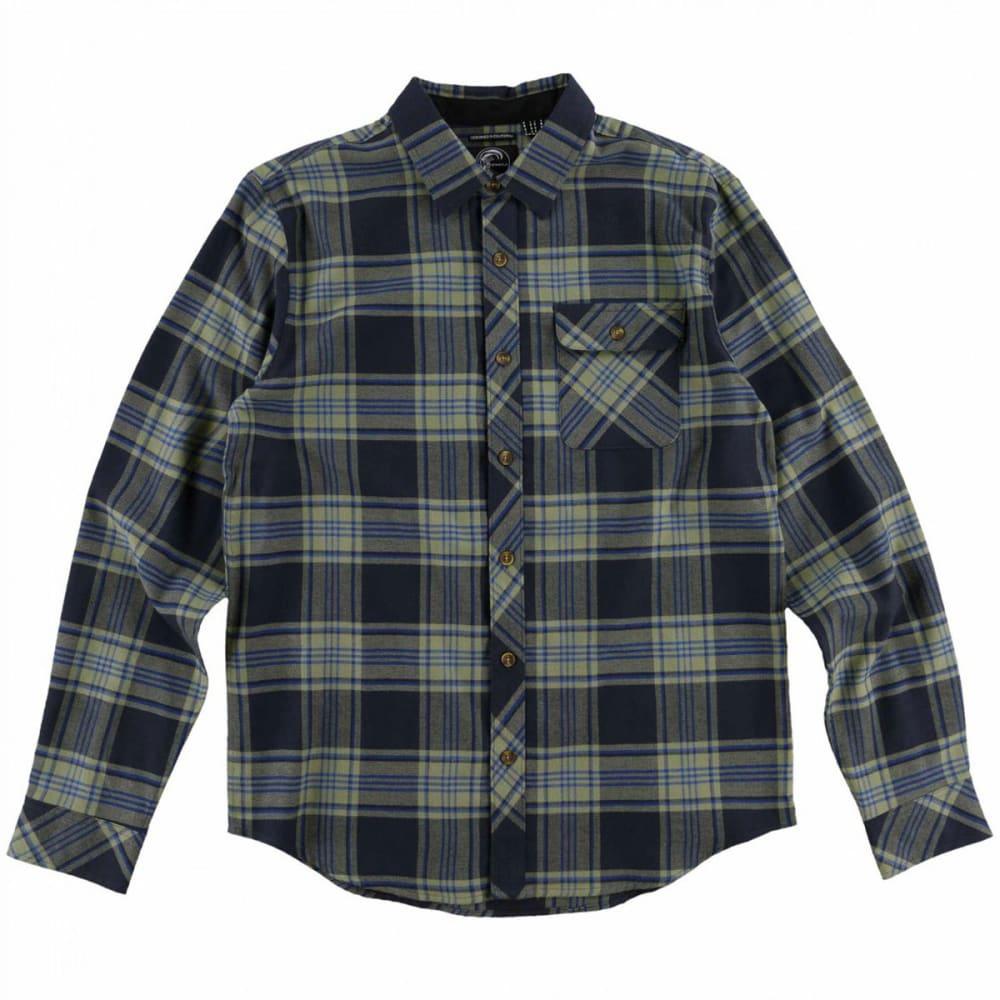 O'NEILL Guys' Watt Flannel Long-Sleeve Shirt - NVY-NAVY