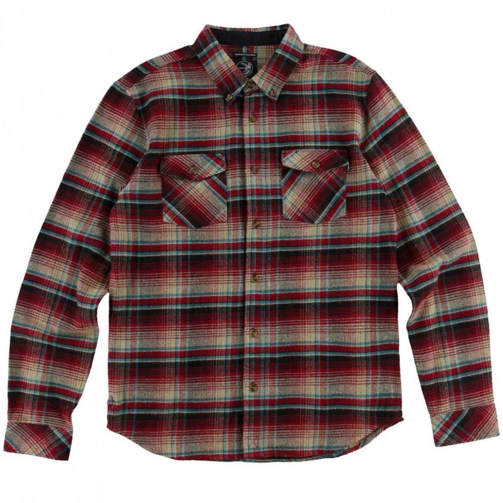 O'NEILL Guys' Butler Flannel Long-Sleeve Shirt - CRI-CRIMSON