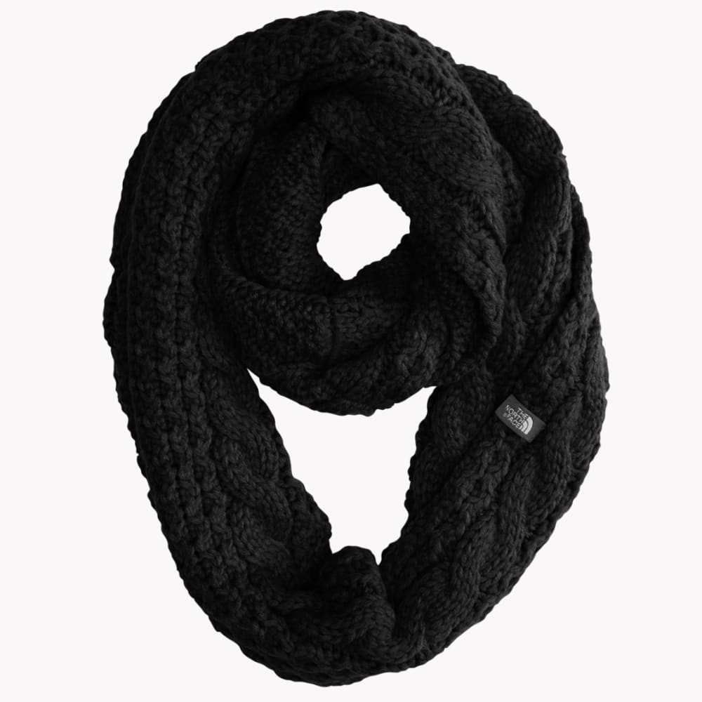 THE NORTH FACE Women's Cable Minna Scarf - TNF BLACK-JK3