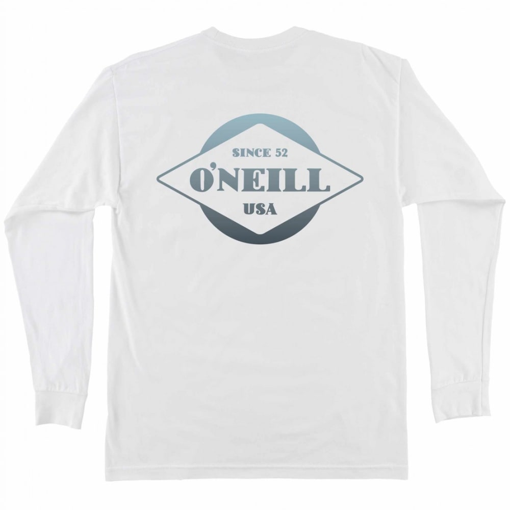 O'NEILL Boys' Signage Long Sleeve Tee - WHT-WHITE