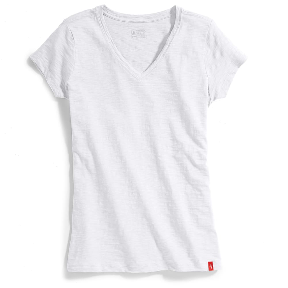 EMS® Women's Solid Slub V-Neck Short-Sleeve Tee - WHITE