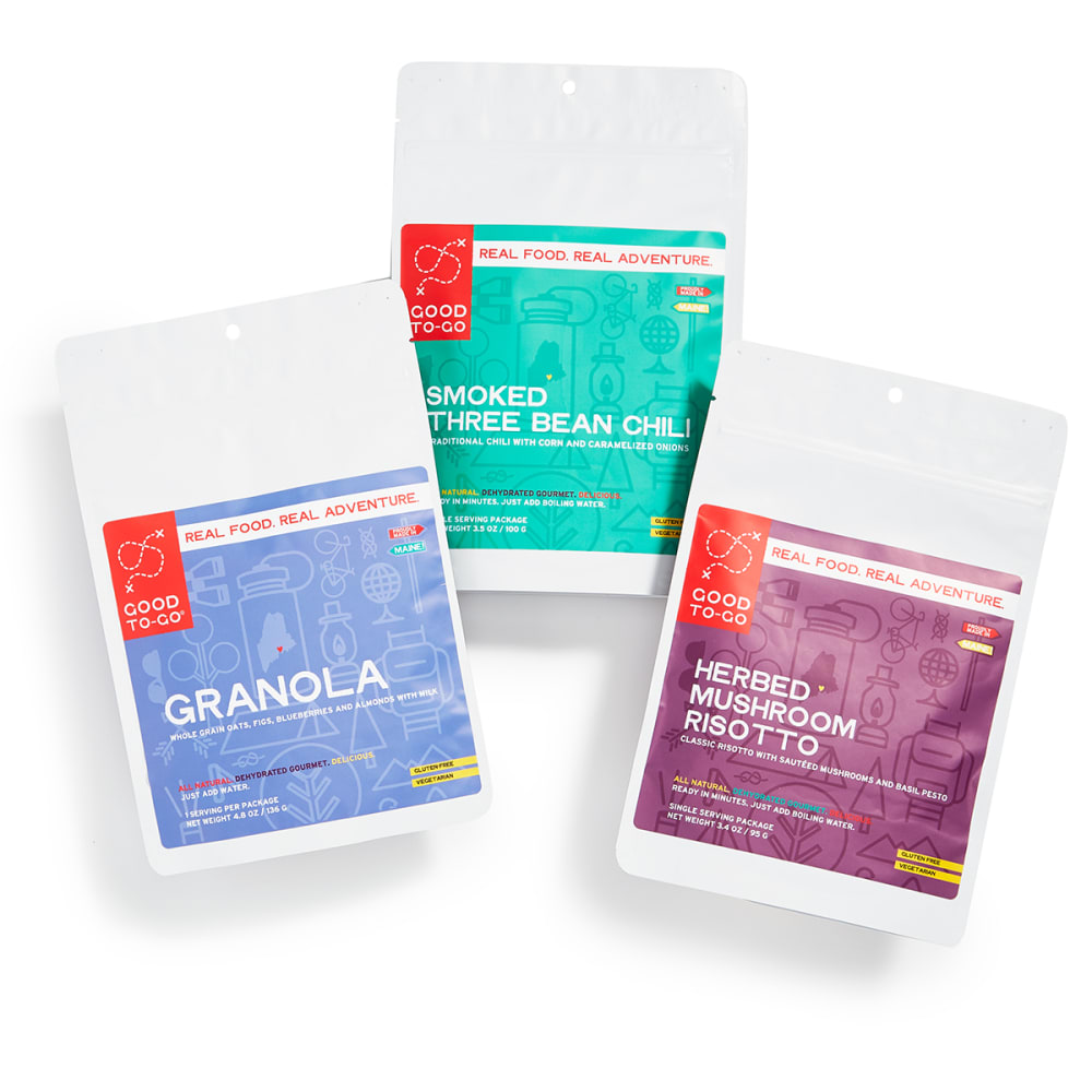 GOOD TO-GO Weekender Granola, Smoked Three Bean Chili & Herbed Mushroom Risotto 3-Pack - NO COLOR