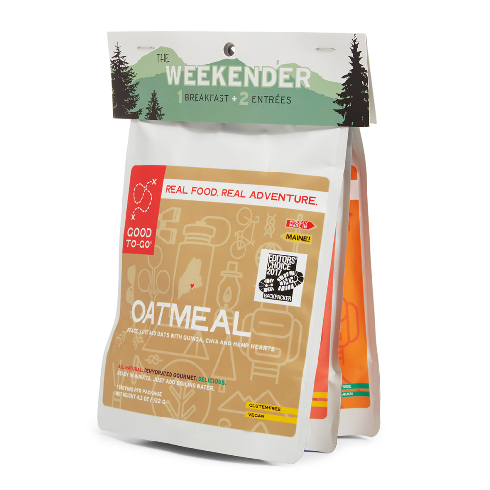 GOOD TO-GO Weekender Oatmeal, Classic Marinara with Penne & Pad Thai 3-Pack - NO COLOR