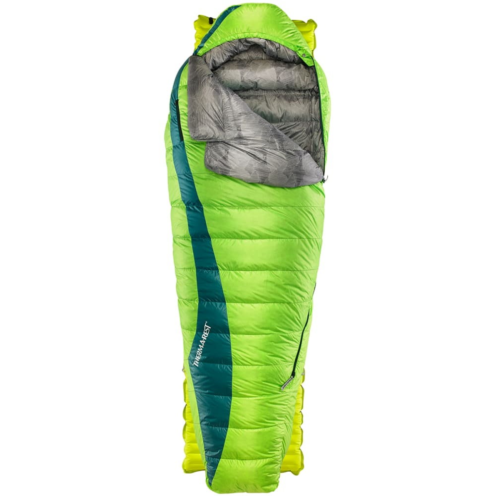 THERM-A-REST Questar HD 20 Sleeping Bag, Long  - GEMINI GREEN