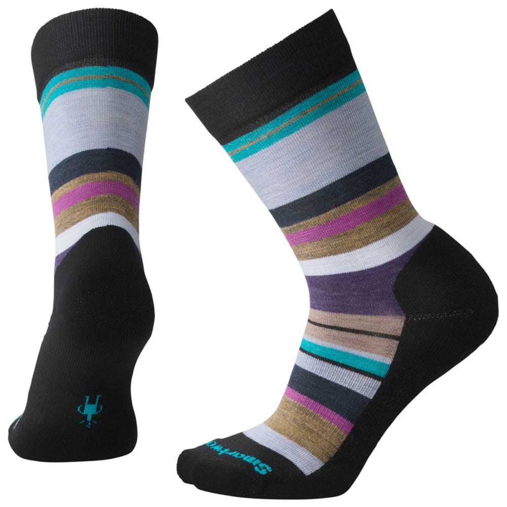 SMARTWOOL Women's Saturnsphere Socks - A61-BLACK MEADOW MAU